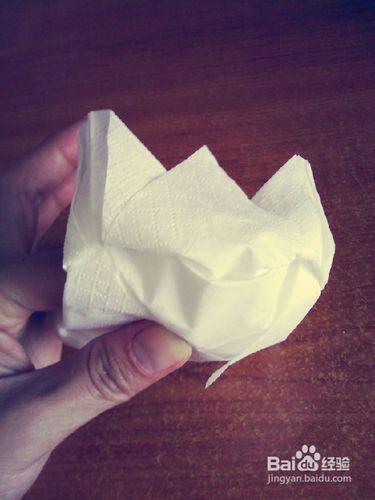 纸巾艺术——白莲花的折法图片