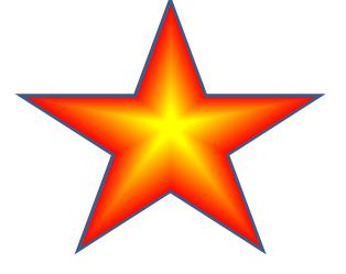 在word中绘制图形之立体五角星图片
