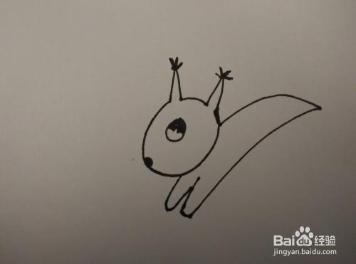 一分钟简笔画 跟我一起画奔跑的小松鼠