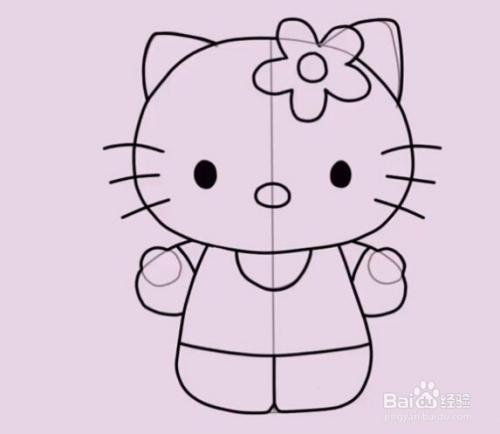教你怎么画hello kitty 猫图片