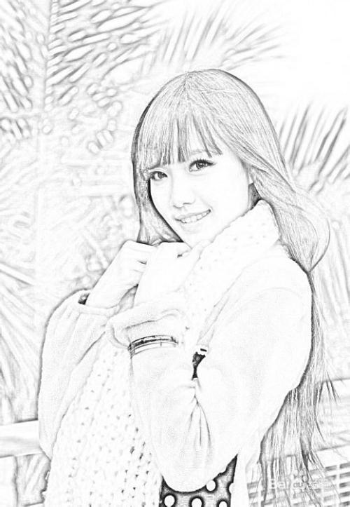 ps制作黑白素描画图片