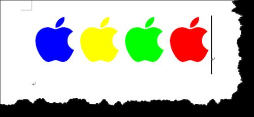 """word如何绘制""""咬了一口的苹果""""logo图片"""
