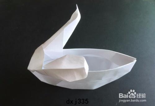简单小白兔灯笼折纸制作图解教程图片