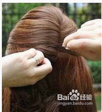 夏季中长发优雅公主头发型扎法图片