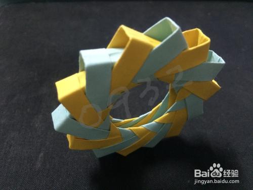 3d立体折纸---纸环折纸教程图片