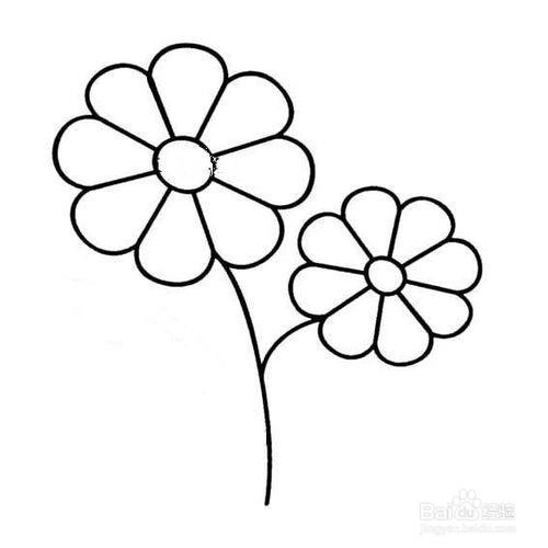 简笔花朵的画法