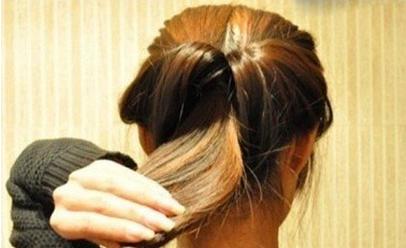 长发简单盘发发型教程图片