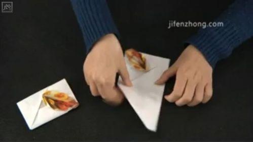 怎样折秋叶信封图片