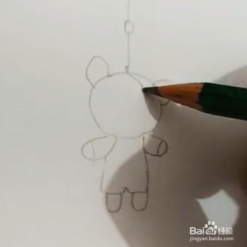 简笔画 小熊挂件画法
