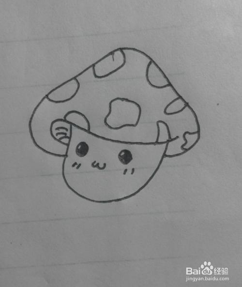 简笔画之小蘑菇