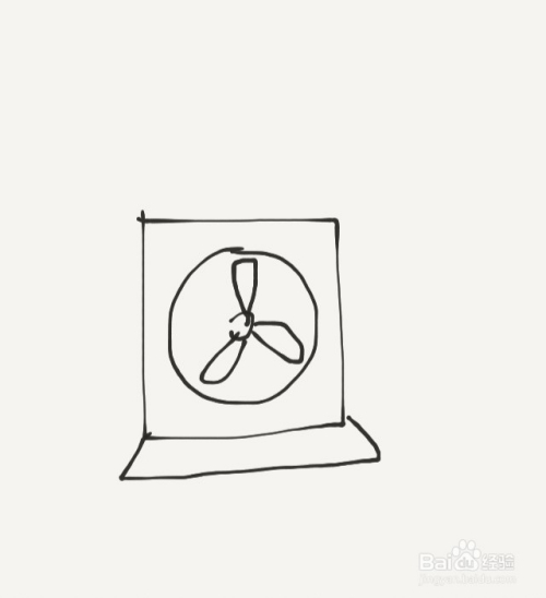 涂鸦系列之如何画抽风机图片