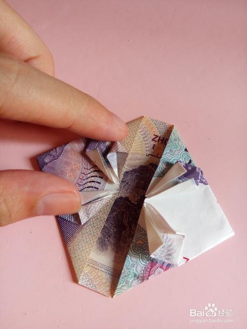 怎么用钱折心形图片