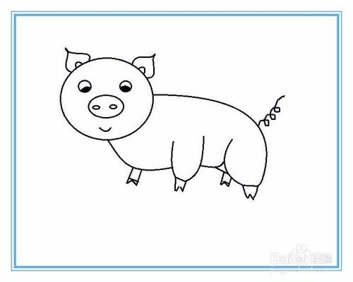 简笔画猪的画法