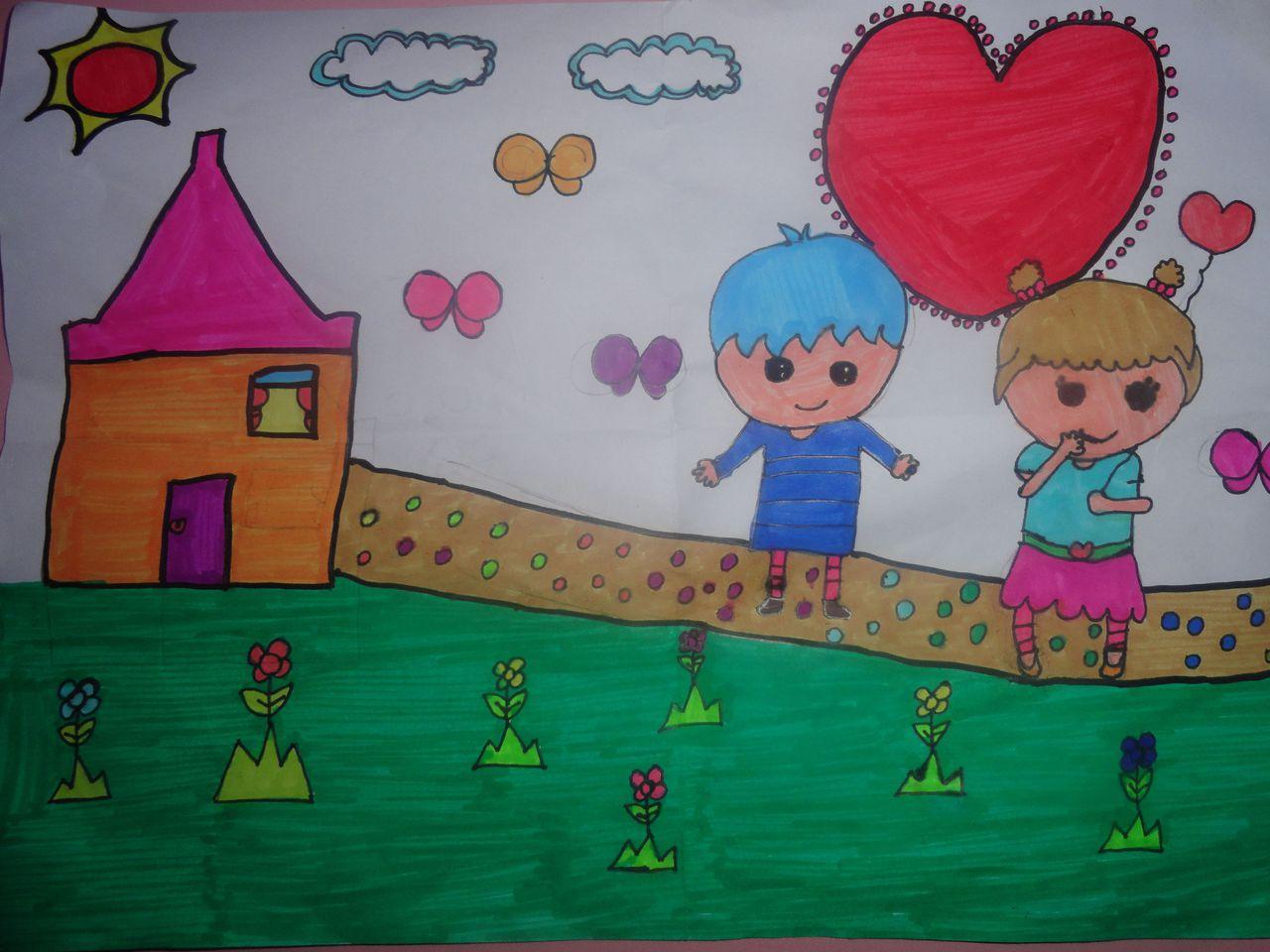 初中学生的绘画作品分享展示图片