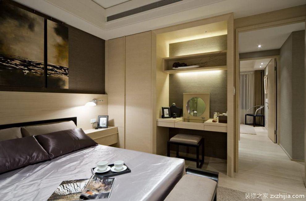 大气素雅灰色中式风格卧室设计图片_装修之家装修效果图图片