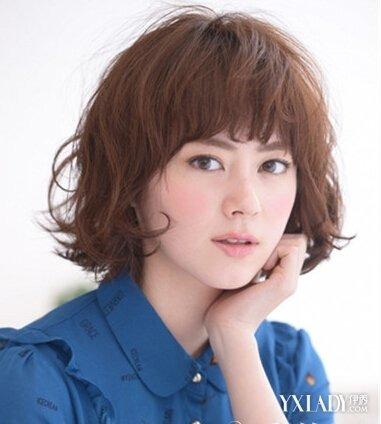 女生短发烫发发型设计不同风格气质短发推荐图片
