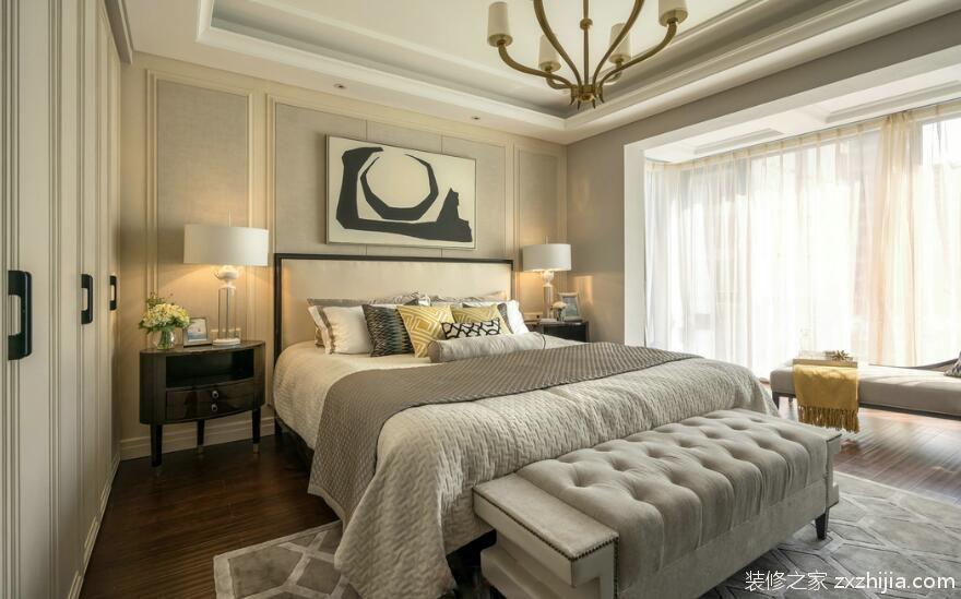 美式休闲别墅卧室效果图片_装修之家装修效果图图片