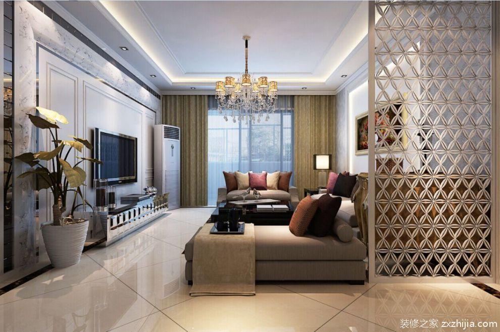 欧式家装客厅吊顶图片_装修之家装修效果图图片
