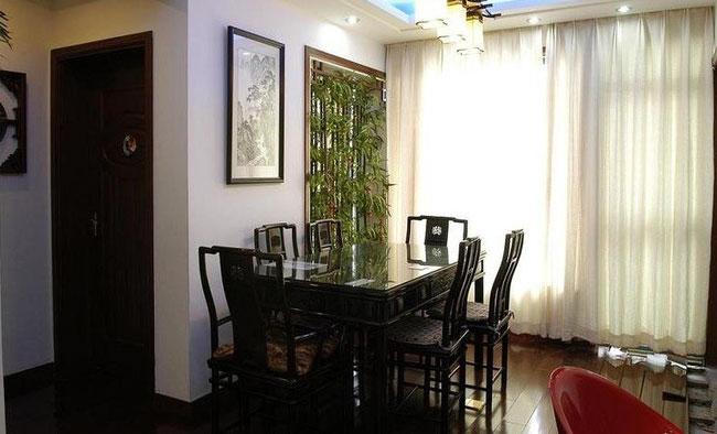 中式复古餐厅装修效果图图片