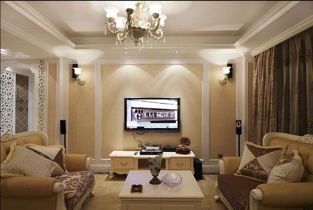 现代欧式风格电视背景墙图片