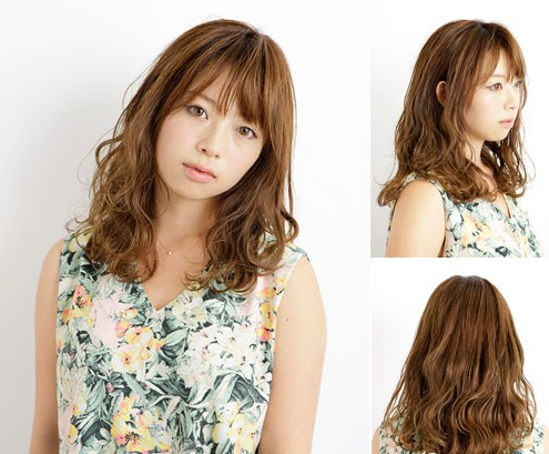 2014韩系长发烫发发型 显瘦趋势释放抢眼魅力图片