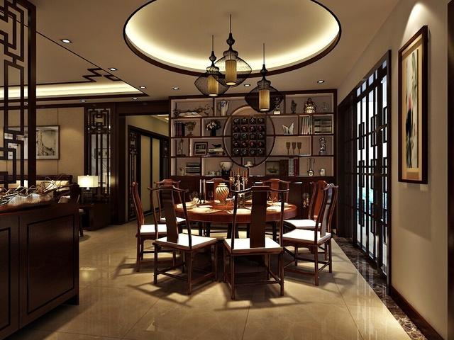 中式风格简洁典雅室内设计欣赏图片