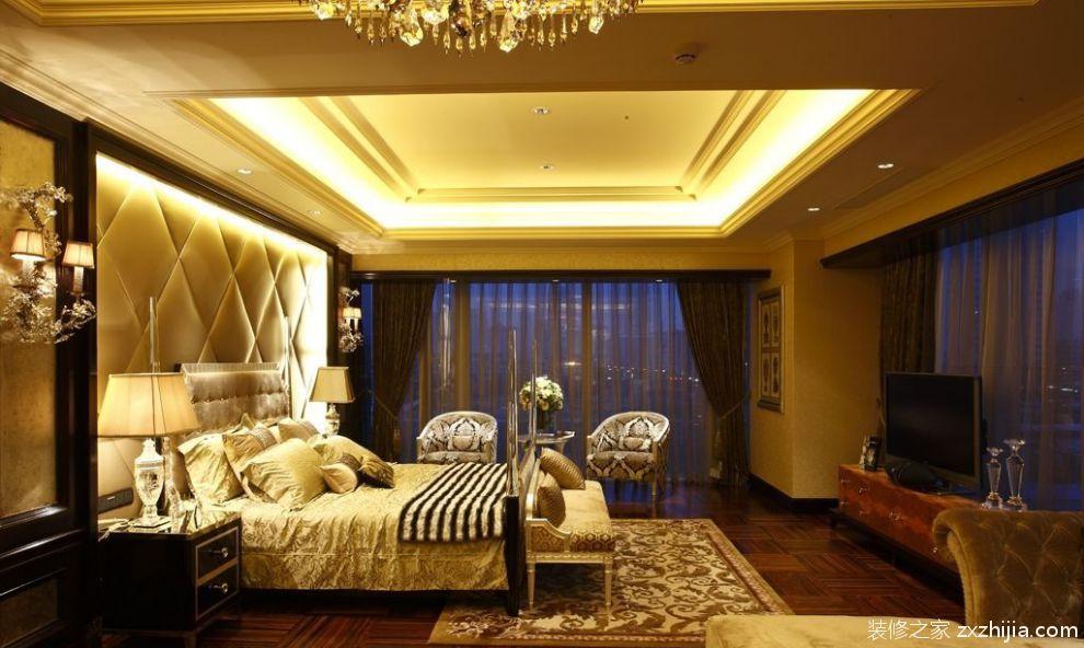 欧式卧室电视背景墙装修效果图_装修之家装修效果图图片