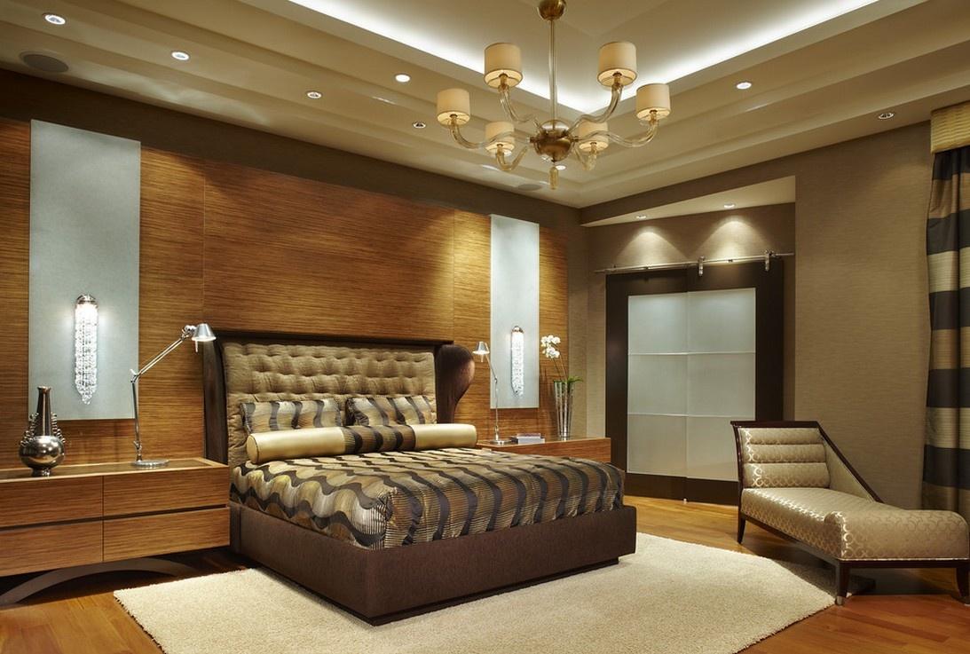 2013最新卧室吊顶装修 美式风格卧室吊顶装修 高清图片