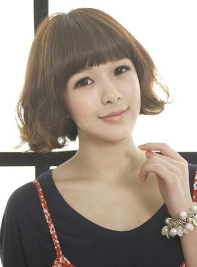 2013年最新短发烫发发型 卷发修饰脸型提升女生气质图片