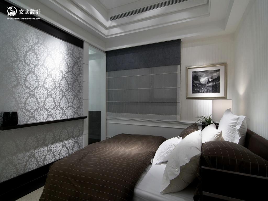 2013欧式别墅卧室墙纸装修效果图 高清图片