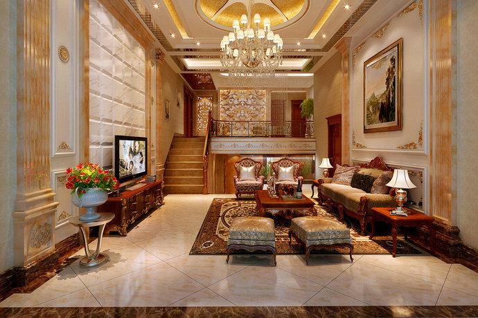 266平欧式风格别墅餐厅装修效果图_设计案例_太平洋家居网高清图库图片