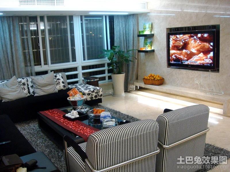 普通家庭装修客厅电视背景墙图片 高清图片