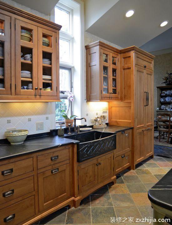 现代简约风格的家具厨房整体橱柜效果图_装修之家装修效果图图片