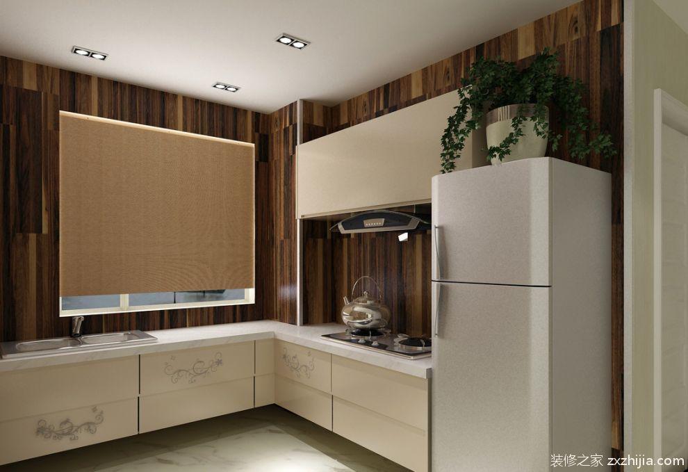 美式风格室内厨房整体橱柜效果图_装修之家装修效果图图片