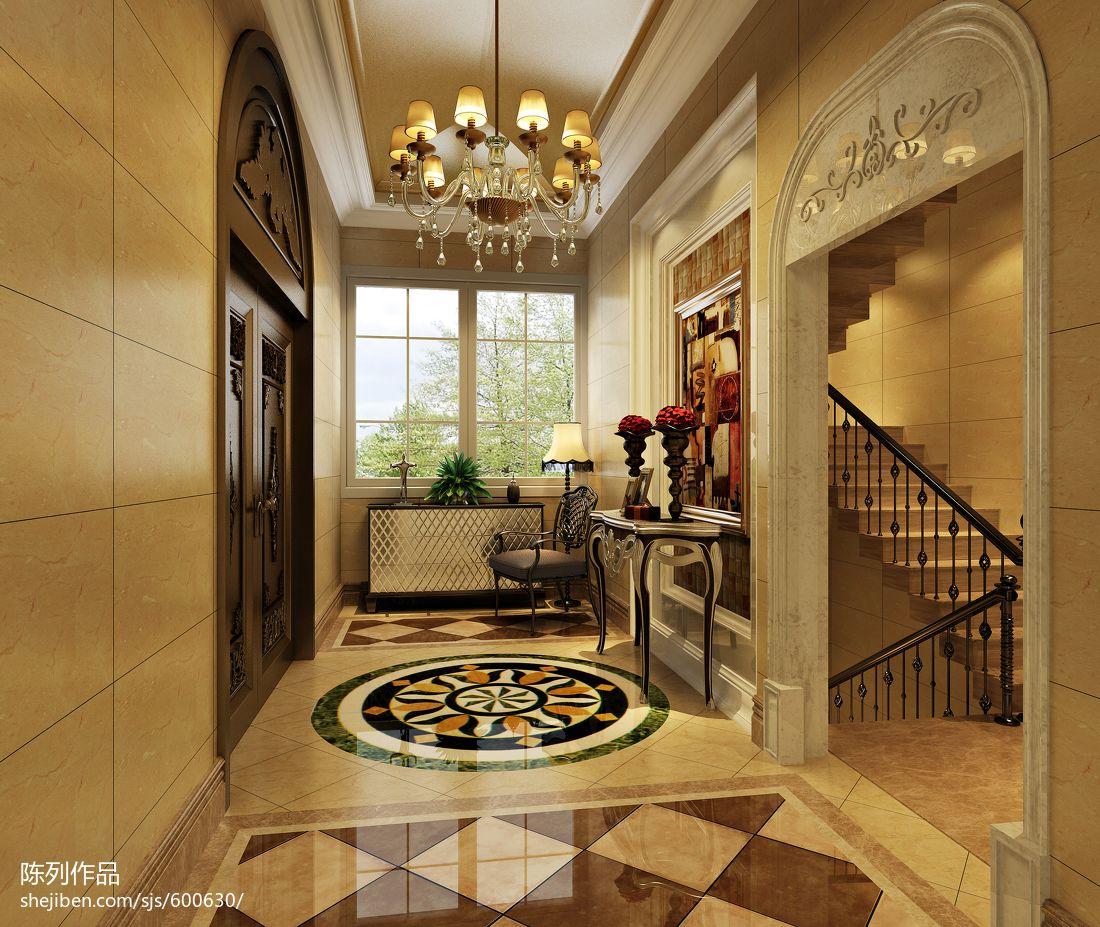 欧式入户玄关吊顶装修效果图 高清图片