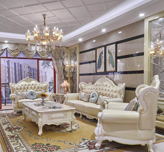 看完我家客厅摆放的欧式真皮沙发之后,亲戚朋友都说要买这样的图片