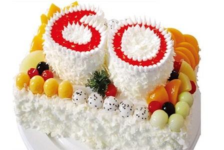 享价值558元『巴黎甜甜』全新欧式16吋+12吋祝寿贺寿蛋糕5种款式任选1图片