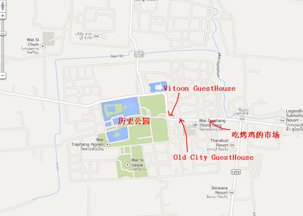 素可泰老城地图图片