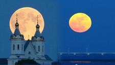 全球多地现超级月亮 静挂夜空令人屏息 美到窒息