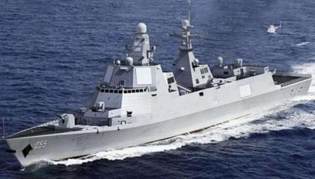 中国新型万吨驱逐舰下水