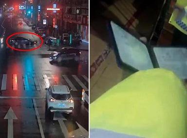 温州一女司机酒后驾车撞人