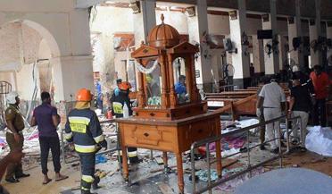 斯里兰卡爆炸地前后对比