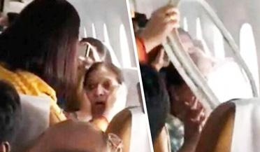 印度客机窗户空中脱落吓坏乘客