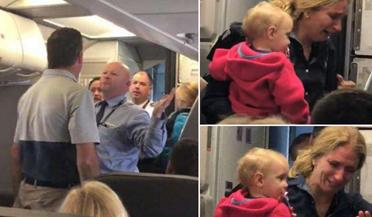 美国航空公司空乘对乘客动粗遭停职处理