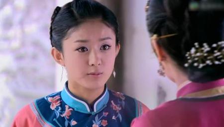 八年前,赵丽颖给安以轩当丫鬟