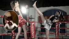 实拍泰拳美女当街捉男友出轨 飞踹+过肩摔打懵渣男