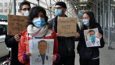 美国护士抗议