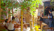 老外在原始小岛开餐馆!一般人找不到,除非坐马车!