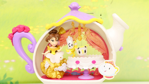 美女与野兽茶煲太太茶壶餐车玩具 会跳舞的小茶杯动画故事