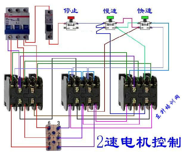 双速电机接线图 双速的接法三相电动机 双速电机接线方法